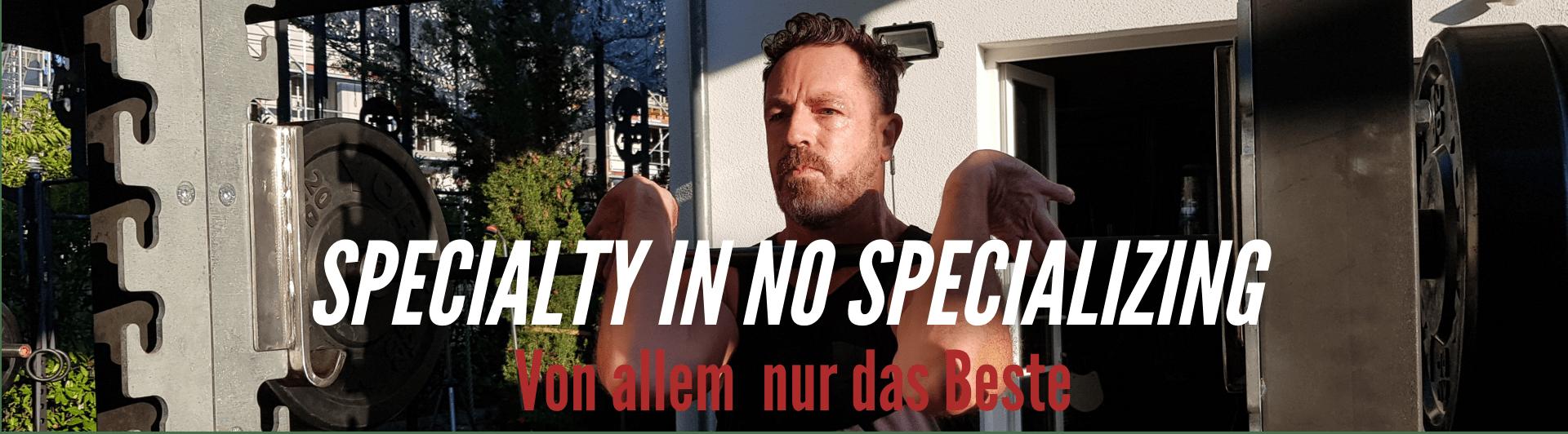 Specialty in no Specialising